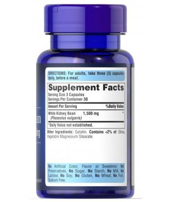 Puritan's Pride White Kidney Bean Product Label