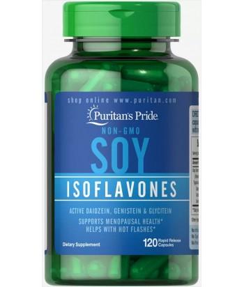 منتج الايسوفلافون الصويا غير المعدلة وراثيا 750 ملغ من بيوريتانز برايد