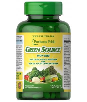 منتج المصدر الأخضر® الفيتامينات والمعادن الخالية من الحديد من بيوريتانز برايد