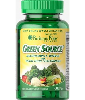 منتج المصدر الأخضر® الفيتامينات والمعادن 60 كبسولة من بيوريتانز برايد