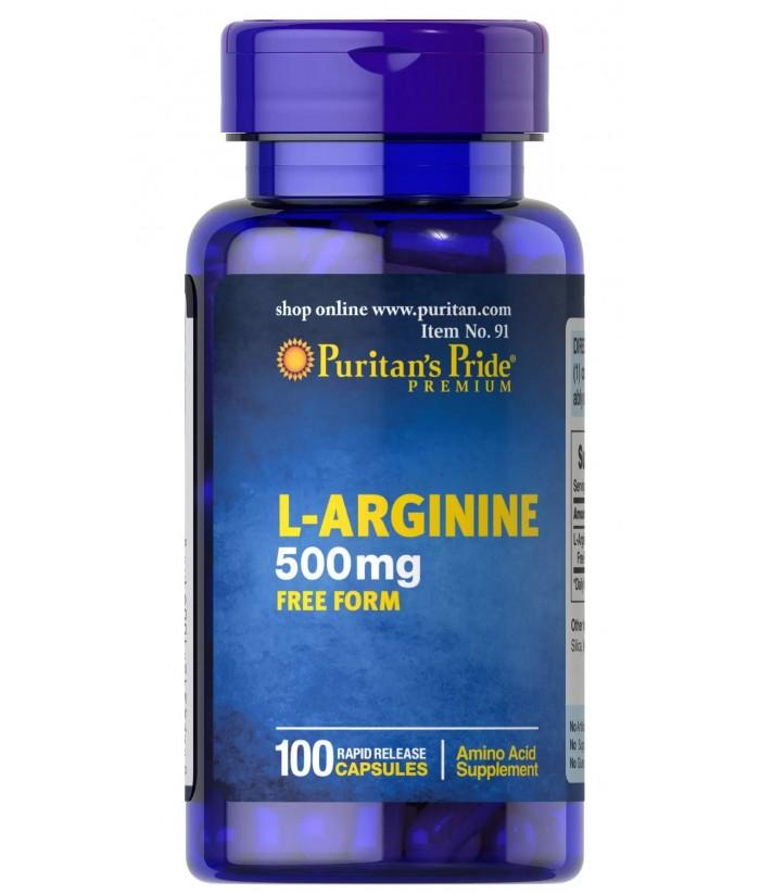 puritan's pride L-Arginine 500 mg Product