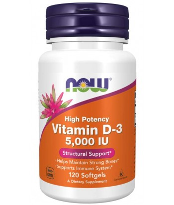 NowFoods Vitamin D-3 5000 IU Product Softgels