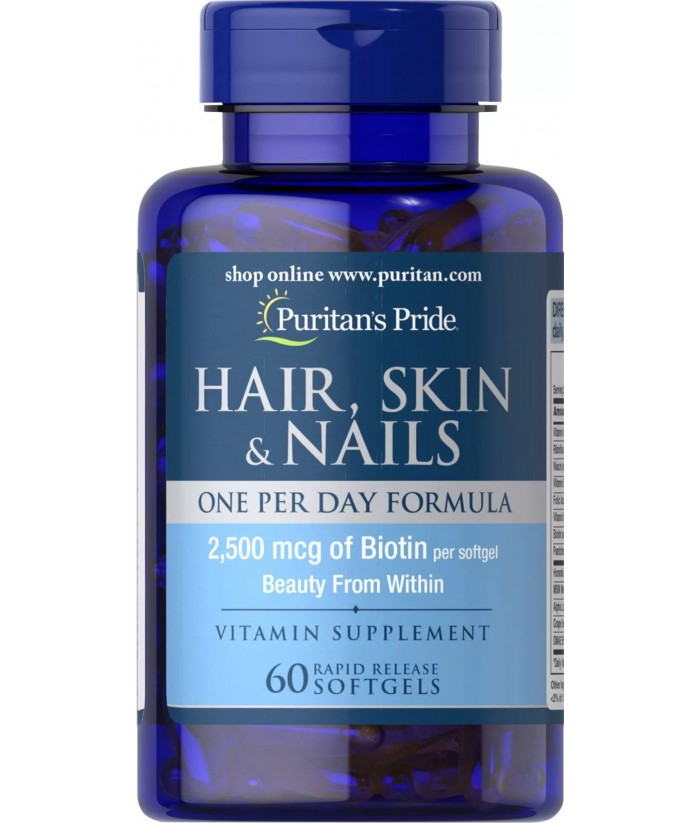 Puritan's Pride Hair, Skin & Nails One Per Day Formula Product