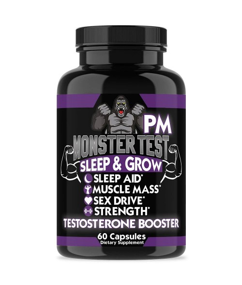 MONSTER TEST PM, TESTOSTERONE BOOSTER SLEEP-AID