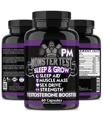 Angry Supplements MONSTER TEST PM, TESTOSTERONE BOOSTER SLEEP-AID Product