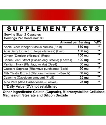 Angry Supplements APPLE CIDER DETOX Product Label