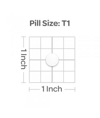 Puritan's Pride Folate 1333 mcg DFE Product Pill Size