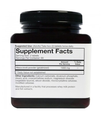 youtheory Maca Root 1000 mg Product Label