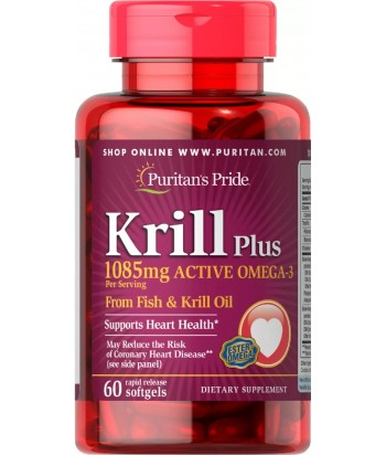 Puritan's Pride Krill Oil Plus High Omega-3 Concentrate 1085 mg Product