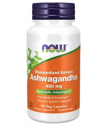 NowFoods ASHWAGANDHA EXT 450MG 90 VCAPS Product