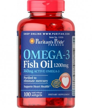 Omega 3 Fish Oil 1200 mg - 100 Softgels
