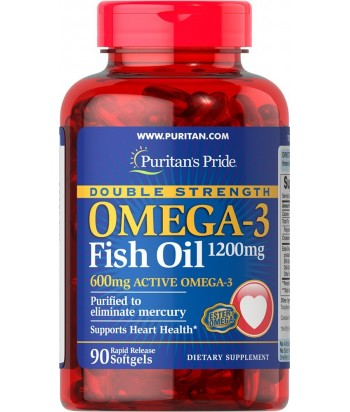 Omega 3 Fish Oil 1200 mg (Double Strenghth) - 90 Softgels