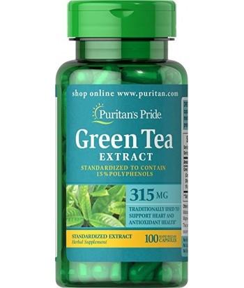 منتج أقراص الشاي الأخضر - 315 ملغ - 100 حبة من بيوريتانز برايد