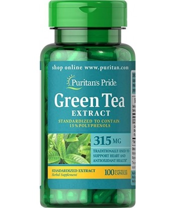 Puritan's Pride Gree Tea tablets - 315 mg - 100 tablets Product