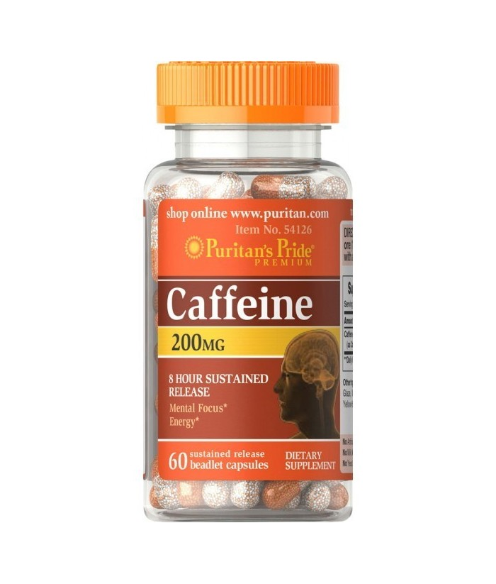 Puritan's Pride Caffeine 200 mg - 60 cps Product