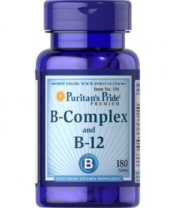 Vitamin B-Complex and Vitamin B-12 180 Tablets