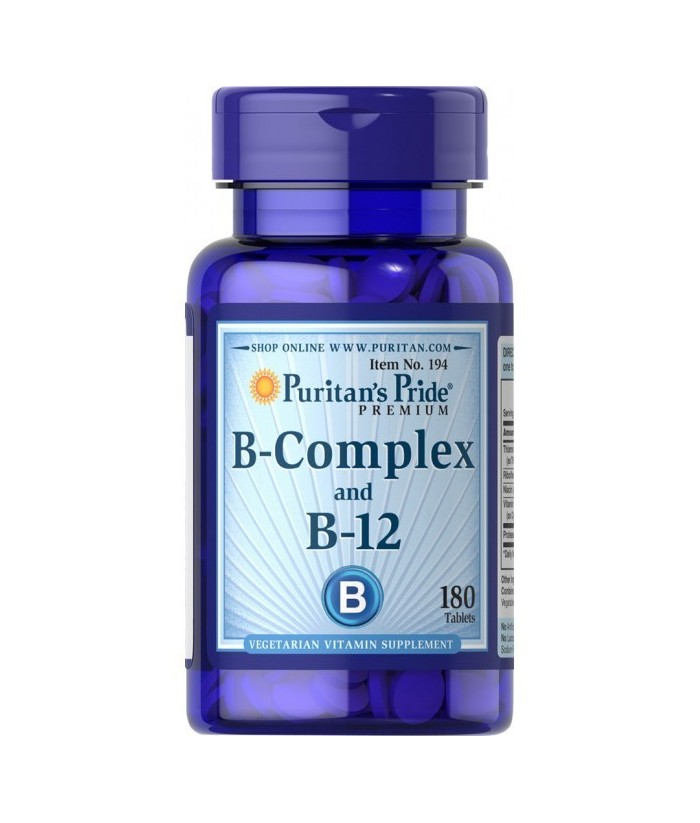 Vitamin B-Complex and Vitamin B-12 180 Tablets