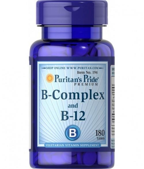 Vitamin B-Complex and Vitamin B-12 (180 Tablets)