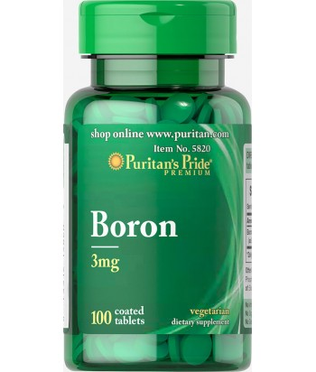 Puritan's Pride Boron 3 mg Product