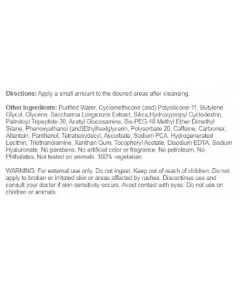 Hyaluronic Acid Serum Label