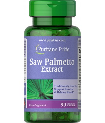 Puritan's Pride Saw Palmetto Extract - 90 Softgels Product