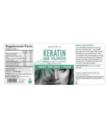 Neocell Keratin Hair Volumizer Product Label