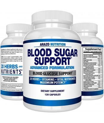 منتج مكملات دعم نسبة السكر في الدم  عشبة وفيتامينات للسيطرة على نسبة السكر في الدم مع حمض ألفا ليبويك والقرفة - من أرازو نوتريشن