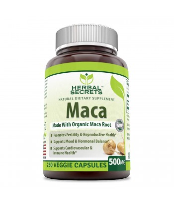 Herbal Secrets Maca 500 Mg 250 Veggie Capsules Product