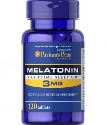 منتج الميلاتونين 3 ملغ - 120 قرص من بيوريتانز برايد