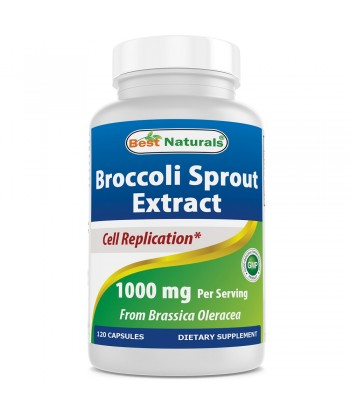 Best Natural Broccoli Sprout Extract 1000 mg 120 Capsules Product