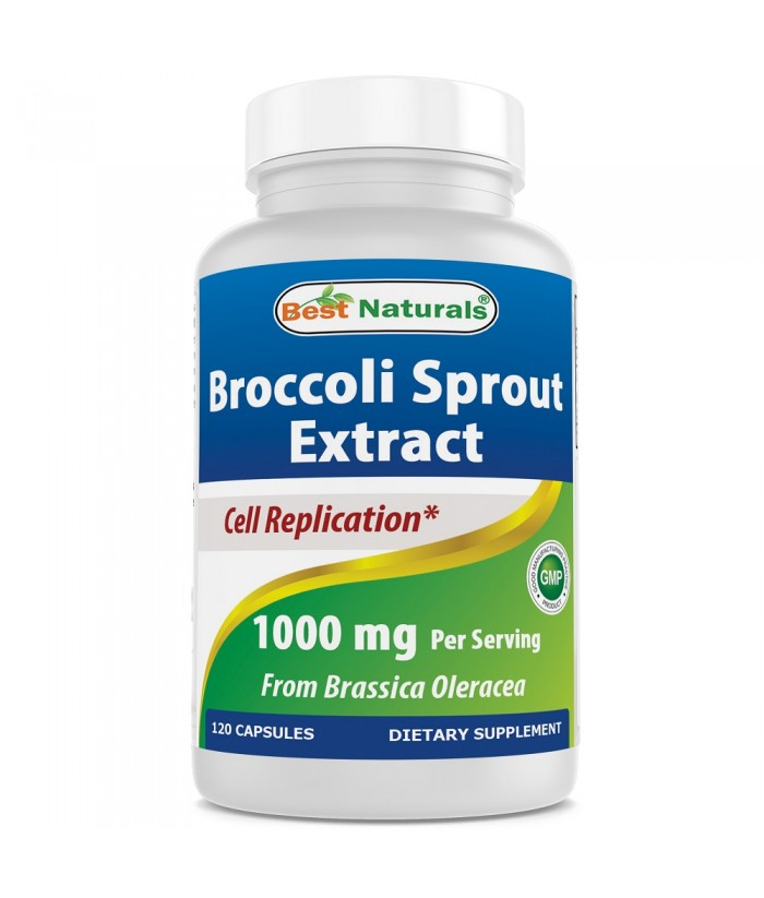 Best Natural Broccoli Sprout Extract 1000 mg Product 120 Capsules