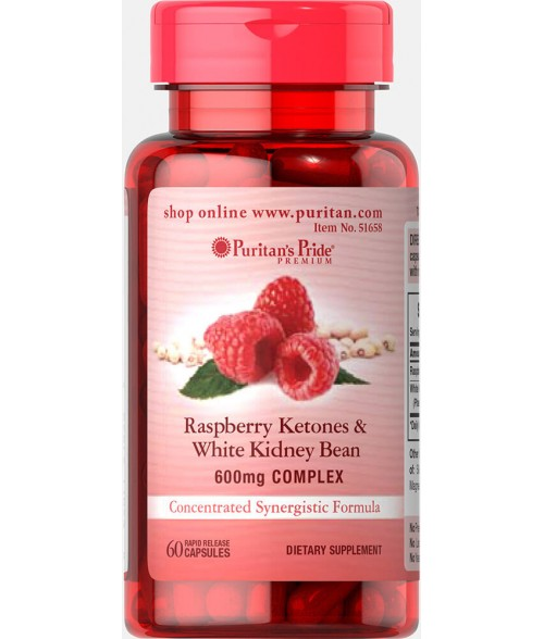Raspberry Ketones and White Kidney Bean 600mg Complex 05/2021
